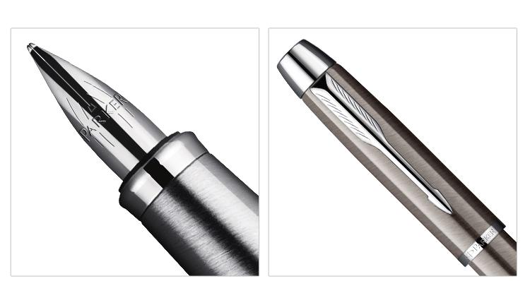 派克IM系列金属灰白夹墨水笔(钢笔)