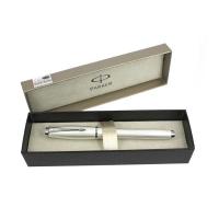 派克都市系列珍珠白格子纹墨水笔(钢笔)