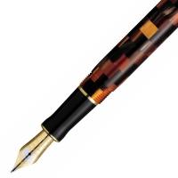 派克世纪系列琥珀棋盘格标准装墨水笔(钢笔)