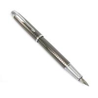 派克IM系列金属灰格子纹墨水笔(钢笔)