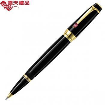 万宝龙波希米亚25300红色合成宝石配黑色树脂签字笔(宝珠笔)