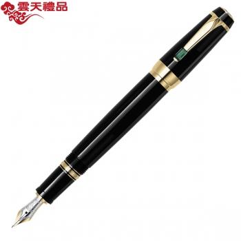万宝龙波希米亚25180绿色合成宝石配黑色树脂墨水笔(钢笔)