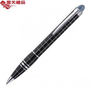 万宝龙星际行者25610橡胶配金属格子纹圆珠笔(原子笔)