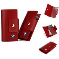 牛皮钥匙包(红色)F-8169