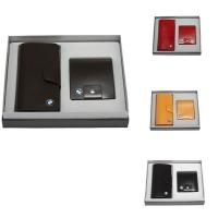 牛皮单链西装夹+横身钱夹礼品套装  LH-8158-8161