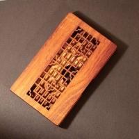 """匠艺  """"窗棂""""名片盒 花梨木名片盒 BCC01"""