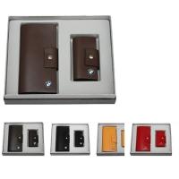 牛皮西装夹+牛皮钥匙包礼品套装 LH-8159-8169