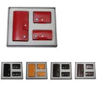 牛皮西装夹+牛皮钥匙包+牛皮名片包礼品套装 LH-8159-8169-8166