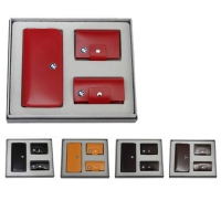 牛皮单链手包+牛皮钥匙包+皮名片包礼品套装 LH-8168-8169-8166