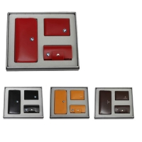 牛皮单链手包+牛皮钥匙包+牛皮驾驶证包礼品套装 LH-8168-8169-8181