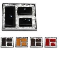 牛皮时尚卡包+牛皮名片包+皮拉链钥匙包礼品套装 LH-8162-8166-8165
