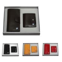 牛皮单链西装夹+竖身钱包礼品套装  LH-8158-8160