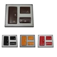 牛皮西装夹+牛皮钥匙包+牛皮驾驶证包礼品套装 LH-8159-8169-8181