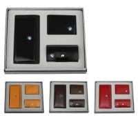 牛皮时尚卡包+牛皮钥匙包+牛皮驾驶证包礼品套装 LH-8162-8169-8181