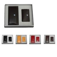牛皮时尚卡包+拉链钥匙包礼品套装  LH-8162-8165