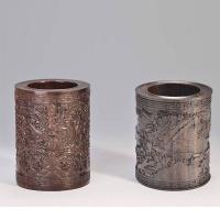 浮雕笔筒(五龙图、清明上河图)YSC-026-红木礼品
