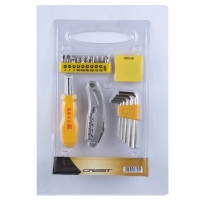 瑞德工具世家双色系列  18pc家用礼品工具 021018