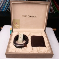 Hush Puppies 暇步士 皮具礼盒两件套 (皮带、钱夹)深啡色 TL1088-22