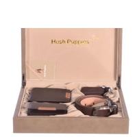 Hush Puppies 暇步士 皮具礼盒四件套 (钱夹、名片夹、皮带、钥匙扣)咖色 TL1088-06A