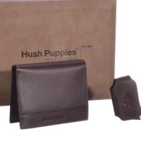 Hush Puppies 暇步士 皮具礼盒二件套(钱包、钥匙夹) 咖色 TL1088-11A