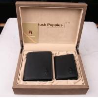 Hush Puppies 暇步士 皮具礼盒两件套 (钱夹、名片夹)黑色 TL1088-23