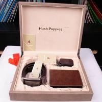 Hush Puppies 暇步士 皮具礼盒三件套 (钱夹、皮带、钥匙扣)咖色 TL1088-19
