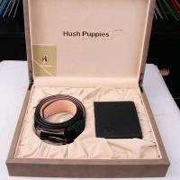 Hush Puppies 暇步士 皮具礼盒两件套 (钱夹、皮带)黑色 TL1088-21