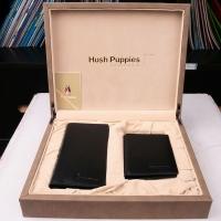Hush Puppies 暇步士 皮具礼盒两件套 (长+短款钱夹)黑色 TL1088-30