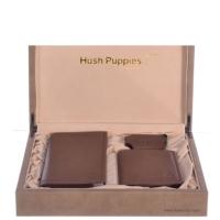 Hush Puppies 暇步士 皮具礼盒三件套 (长-短钱夹、钥匙扣)咖色 TL1088-09