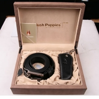 Hush Puppies 暇步士 皮具礼盒两件套 (皮带、车钥匙扣)黑色 TL1088-02A
