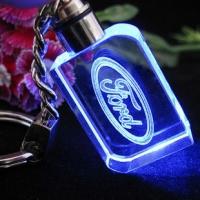 水晶钥匙扣 发光LED 广告礼品 公司活动礼品 LQysk003-创意礼品网
