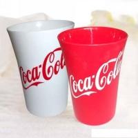 广告水杯套装 三色三件套装弧形广口塑料水杯 GGSB2