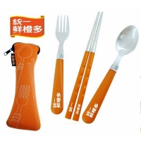 广告餐具套装 不锈钢陶瓷餐具套装 CJTZ1