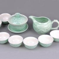 广告茶具套装 中国白功夫茶具 中国白·浮雕龙 GGCJ4