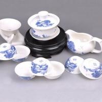 广告茶具套装 青花釉下彩 青花瓷茶具套装 青花瓷·江南水乡 GGCJ3