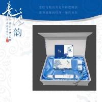 青花商务四件套(无线鼠标、笔、U盘4G、名片盒)—北京商务礼品网