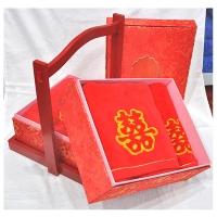 新疆精索棉婚庆花篮喜字系列毛巾