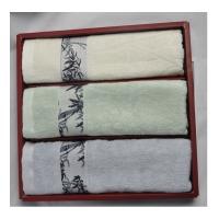 竹纤维毛巾三件套
