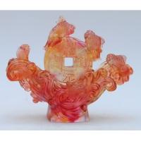 琉璃摆件-八方纳财(红) M-017JH
