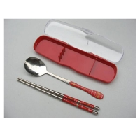 户外餐具 韩式贴花勺筷两件套 MR-0708