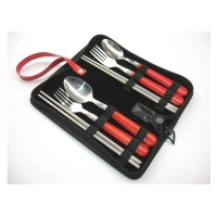 户外餐具 旅行叉勺筷六件套 MR-0204