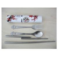 户外餐具 大号塑料筒装中国风系列大三件套 MR-0608H