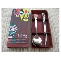 户外餐具 滴胶脸谱勺筷两件套 MR-1110