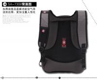 swissgear瑞士军刀电脑双肩背包SA7308 黑色,红色,灰色