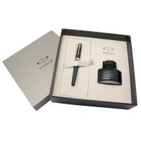 派克(PARKER)08卓尔磨砂黑杆金夹墨水笔+墨水礼盒套装
