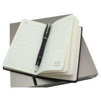 派克(PARKER)都市乌木黑格子纹签字笔+60K笔记本礼盒