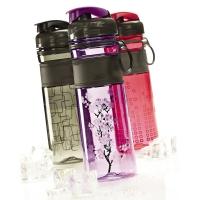 乐柏美(Rubbermaid)Tritan印花系列水瓶揭盖式600ML紫色