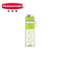 乐柏美(Rubbermaid)Tritan印花系列水瓶揭盖式600ML新绿