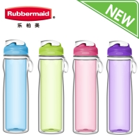乐柏美(Rubbermaid)Tritan双层系列水瓶500ML透明绿