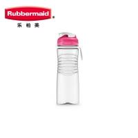 乐柏美(Rubbermaid)Tritan螺旋防滑水瓶揭盖式600ML新粉